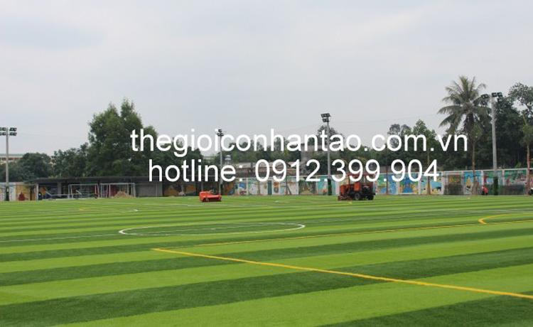 Dưới đây là một số hình cảnh trải cỏ trên bề mặt sân: 1