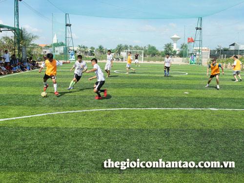 Chia sẻ cách kéo dài tuổi thọ sân bóng đá cỏ nhân tạo 1