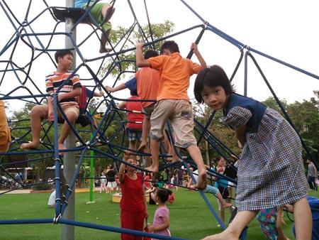 Cỏ nhân tạo sân vườn đã có mặt tại công viên Nghĩa Đô 4