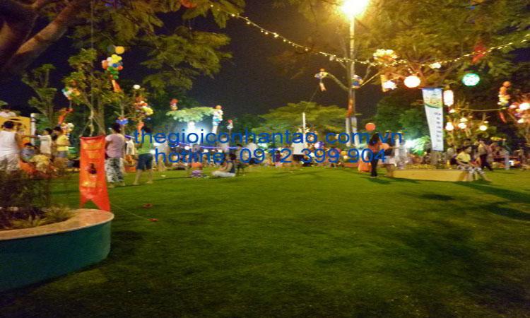 Dự án sân cỏ nhân tạo tại Công viên Nghĩa Đô 1