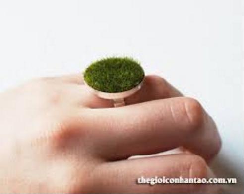 nhẫn cỏ nhân tạo
