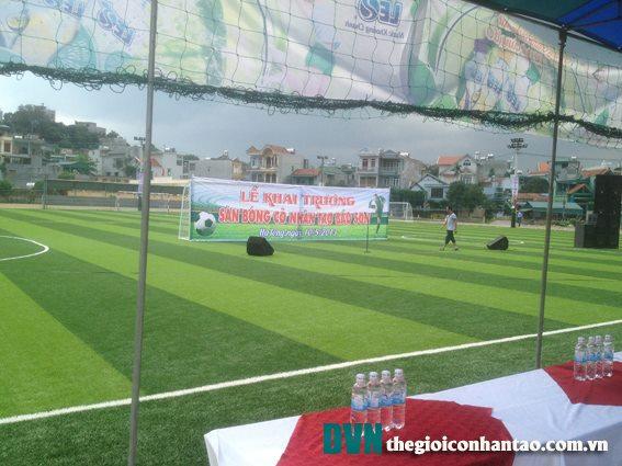 khai trương sân bóng cỏ nhân tạo