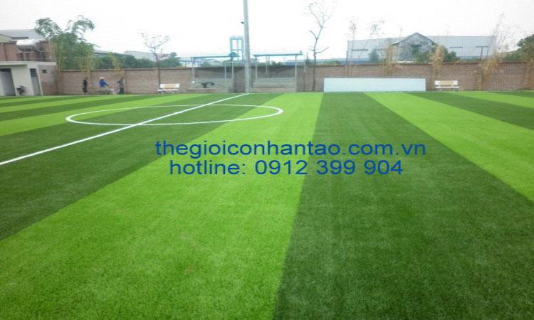 Dưới đây là một số hình ảnh thi công sân cỏ nhân tạo tại Phố Châu - Hương Sơn - Hà Tĩnh: 5