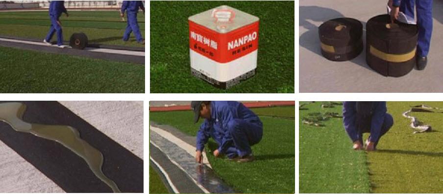 3. Thi công bề mặt sân cỏ nhân tạo 2