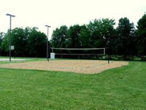 sân bóng chuyền ngoài trời