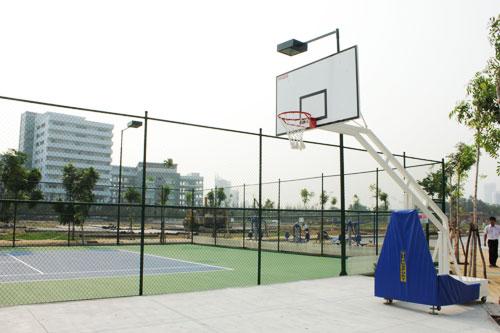 Cỏ nhân tạo sân bóng rổ 2