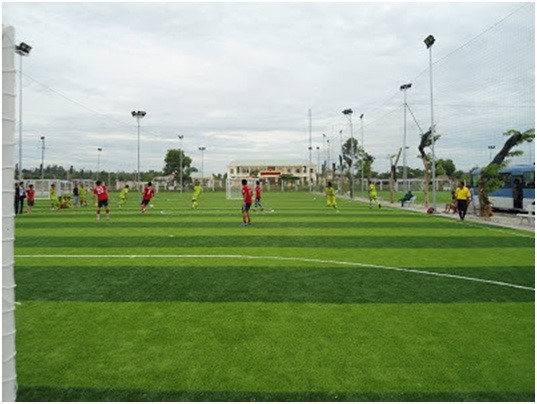 Diện tích sân bóng đá cỏ nhân tạo ở Việt Nam 1