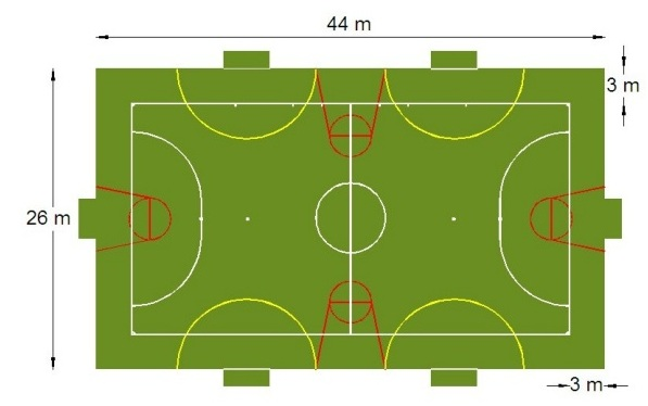 Một số hình ảnh một số bản vẽ cho kích thước sân bóng mini ngoài thực tế cho các trận đấu nghiệp dư: 1