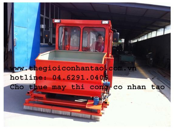 Máy thi công cỏ nhân tạo nhập khẩu 5