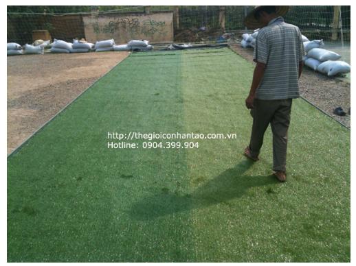 Sân cỏ nhân tạo bóng đá - Quy trình lắp đặt thi công 4