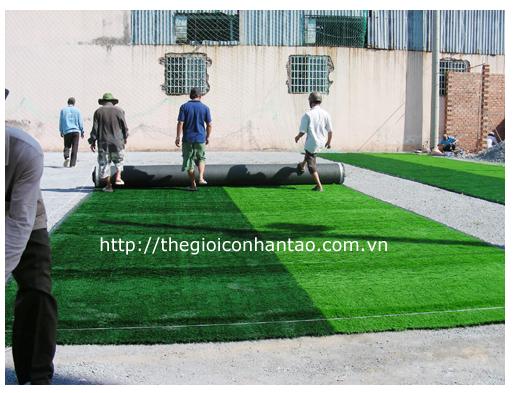 Sân cỏ nhân tạo bóng đá - Quy trình lắp đặt thi công 6