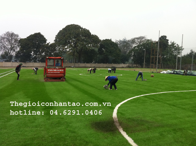 Những công trình sân cỏ nhân tạo Hà Nội đã thi công và đi vào hoạt động. 1
