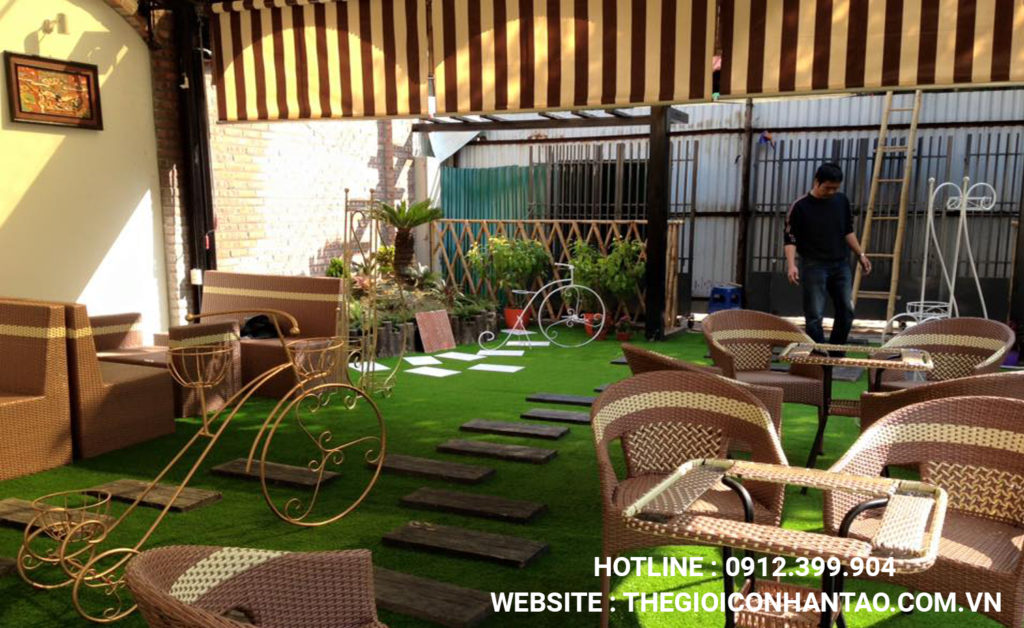 2. Thiết kế nội thất với cỏ trang trí sân vườn 1