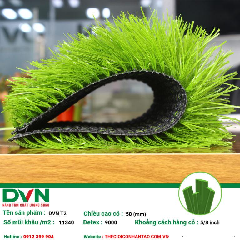 Thông số sản phẩm Cỏ nhân tạo sân bóng DVN – T2 1