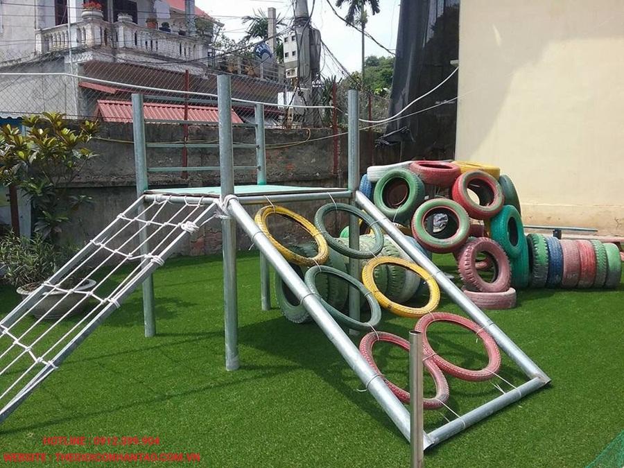 Một số hình ảnh thi công sân Trường tiểu học thị trấn Quốc Oai A 5