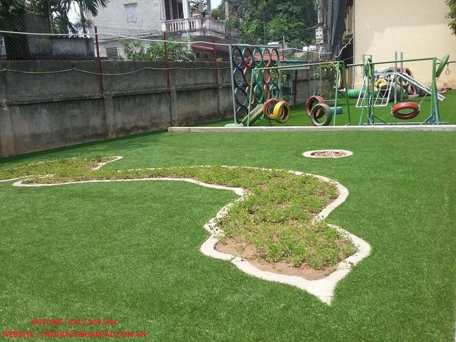 Một số hình ảnh thi công sân Trường tiểu học thị trấn Quốc Oai A 4