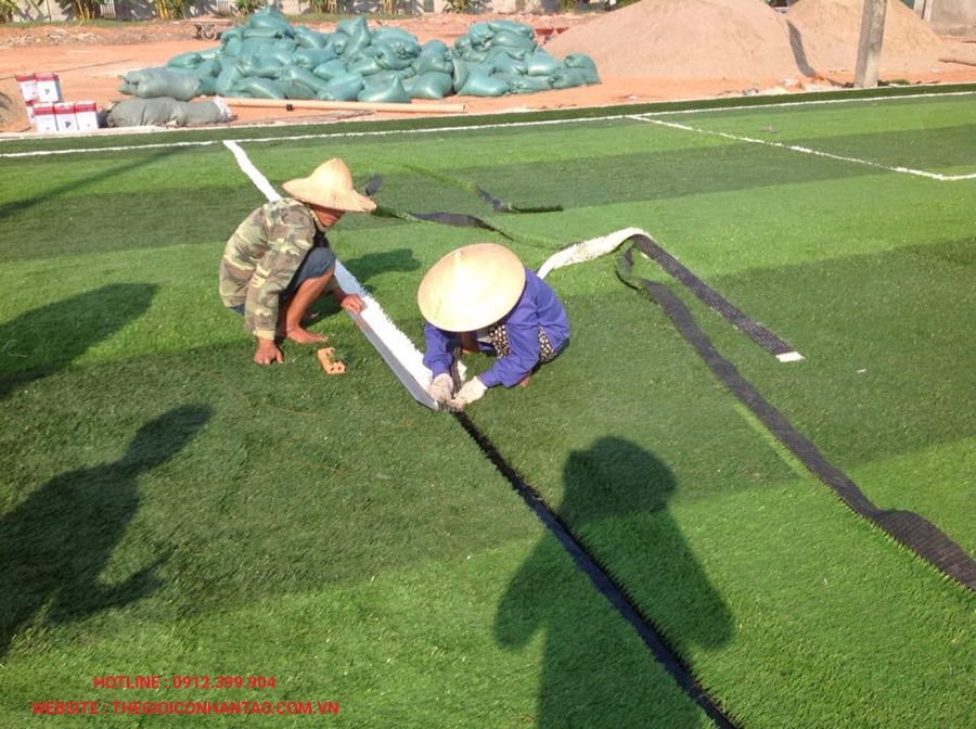Một số hình ảnh của sân bóng đá cỏ nhân tạo 3A FC, Lào 3