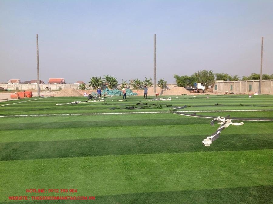 Một số hình ảnh của sân bóng đá cỏ nhân tạo 3A FC, Lào 5