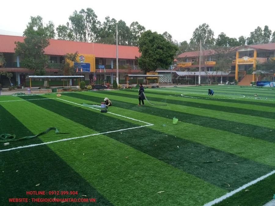 Sân bóng đá cỏ nhân tạo tại Viện Tòa Án, Lào 2