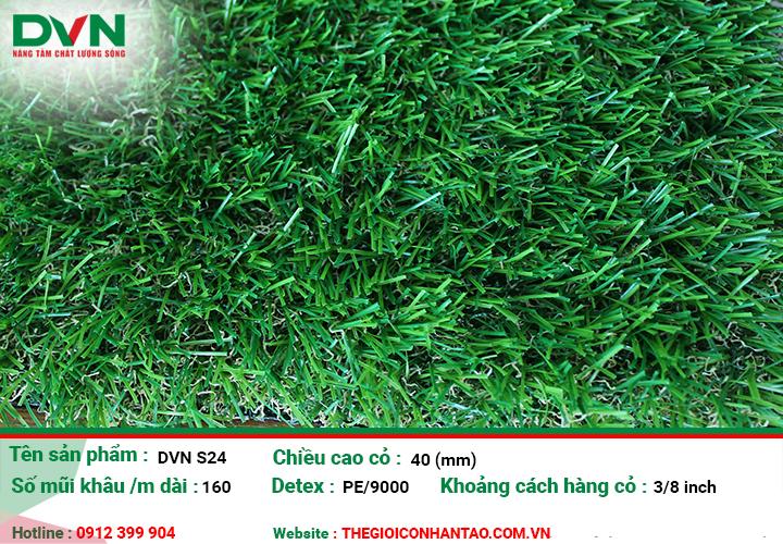 Ưu điểm của sản phẩm Cỏ nhân tạo sân vườn DVN S24 1