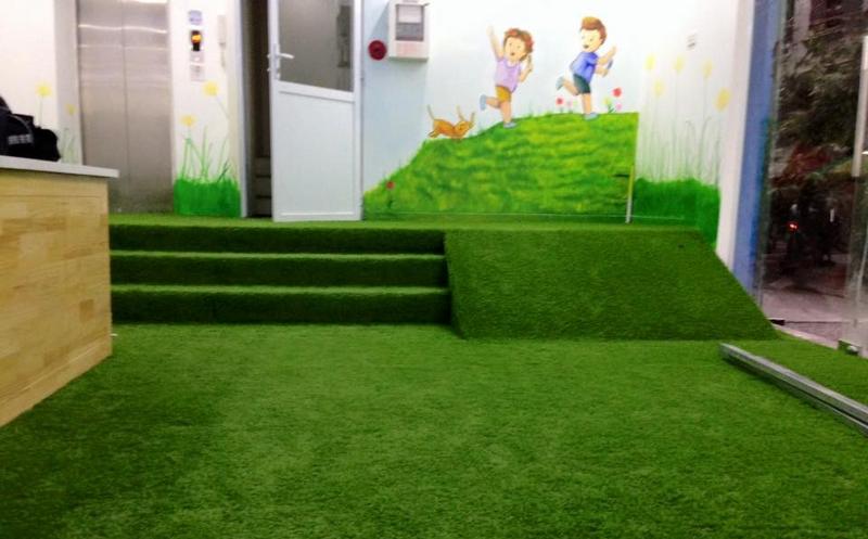 Thảm cỏ trang trí mầm non