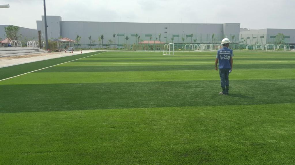 Một số hình ảnh của Dự án sân bóng tại Sam sung Việt Nam 2