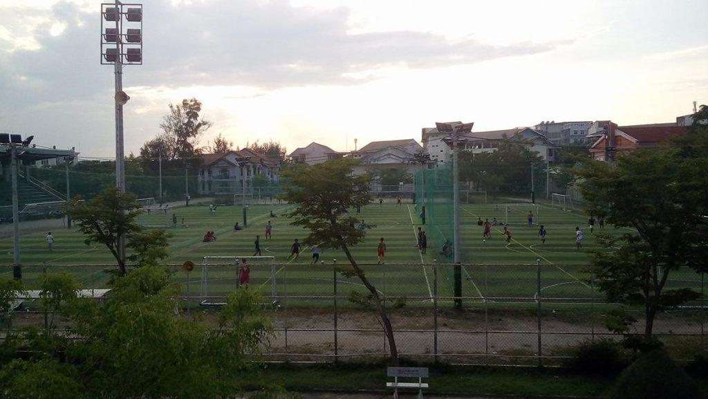 Một số hình ảnh tiêu biểu Dự án sân bóng đá tại Trường Đại Học Quảng Nam 1
