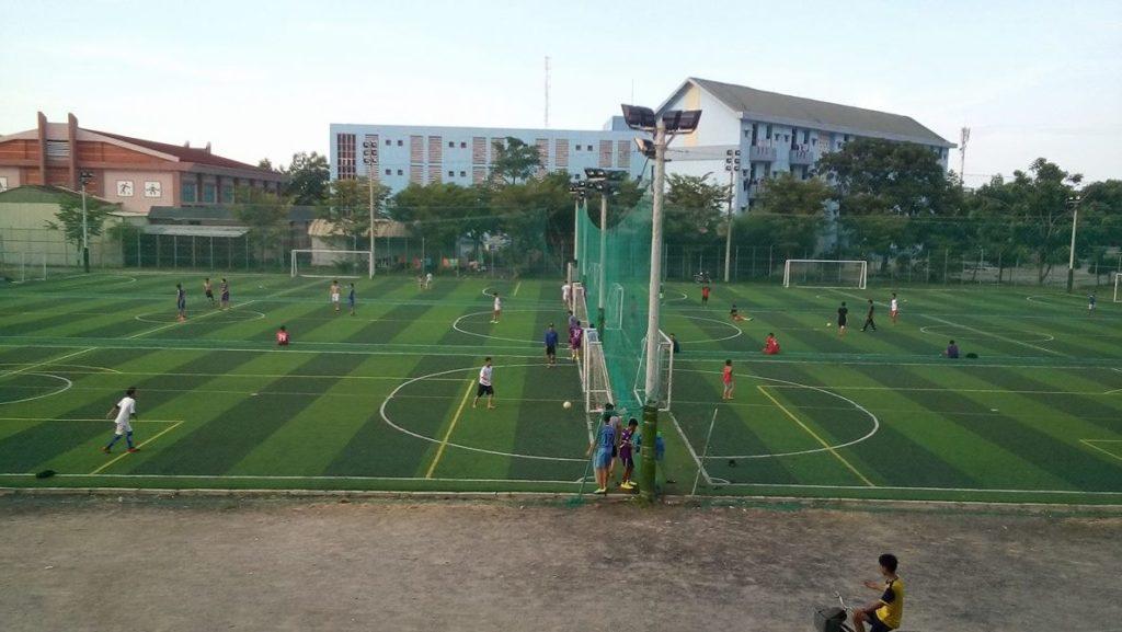 Một số hình ảnh tiêu biểu Dự án sân bóng đá tại Trường Đại Học Quảng Nam 2