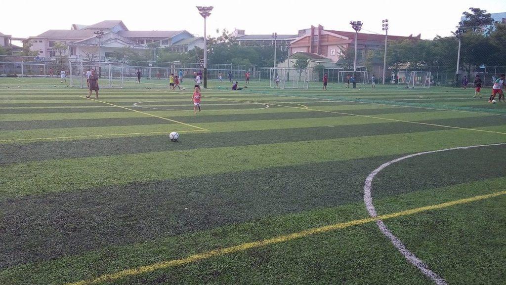 Một số hình ảnh tiêu biểu Dự án sân bóng đá tại Trường Đại Học Quảng Nam 3