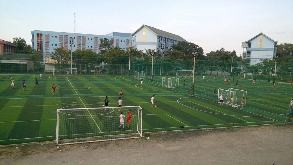 Một số hình ảnh tiêu biểu Dự án sân bóng đá tại Trường Đại Học Quảng Nam 4