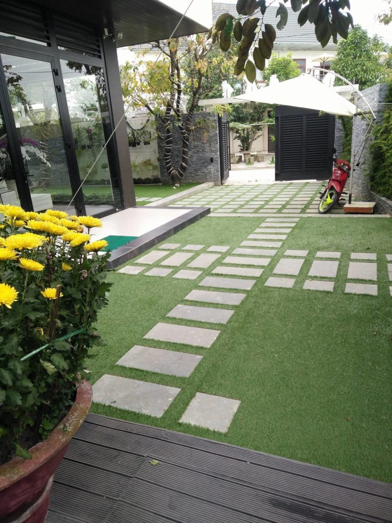 Một số hình ảnh của Dự án sân vườn biệt thự Hòa Xuân - Mrs Nga 3