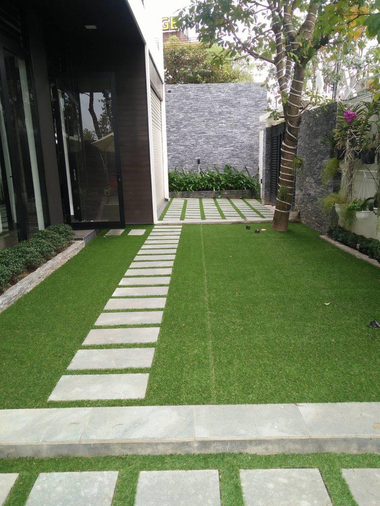 Một số hình ảnh của Dự án sân vườn biệt thự Hòa Xuân - Mrs Nga 2