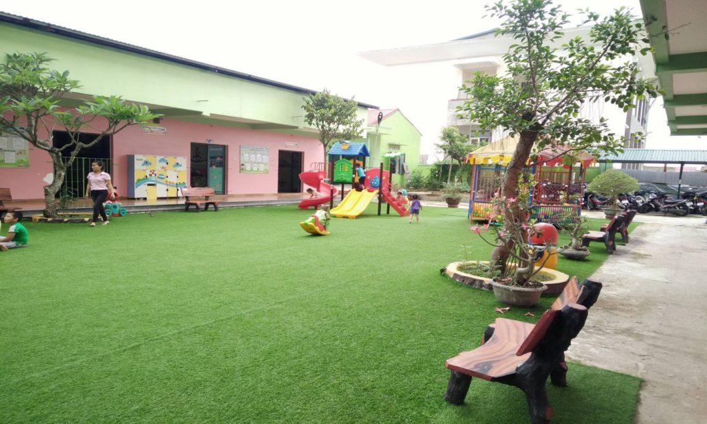 Một số hình ảnh của Dự án sân vườn trường mầm non Tuổi Hồng 1