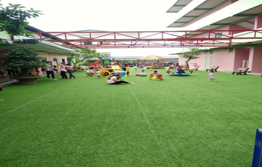 Một số hình ảnh của Dự án sân vườn trường mầm non Tuổi Hồng 2