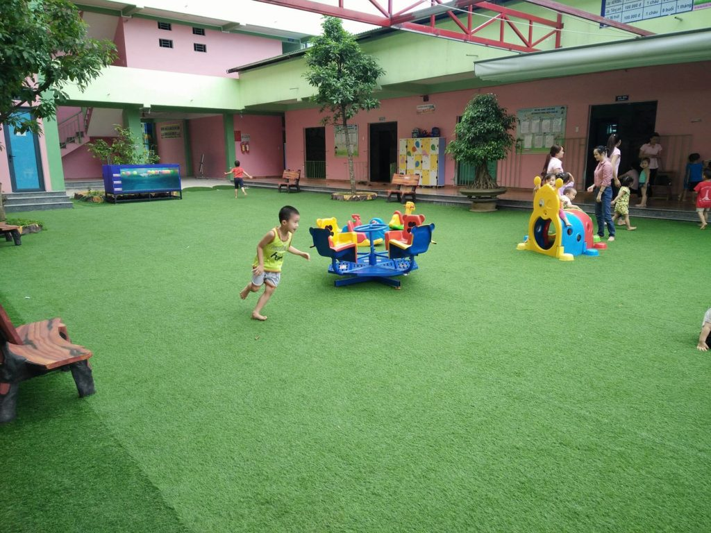 Một số hình ảnh của Dự án sân vườn trường mầm non Tuổi Hồng 3