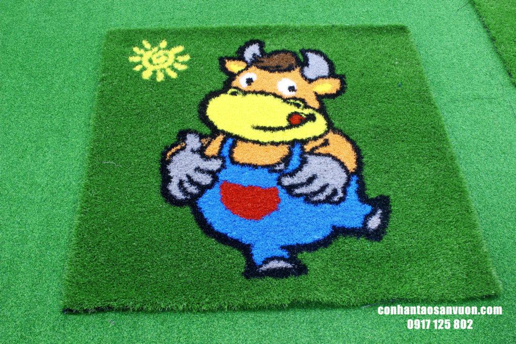 Hình ảnh Thảm cỏ hình 12 con giáp 2