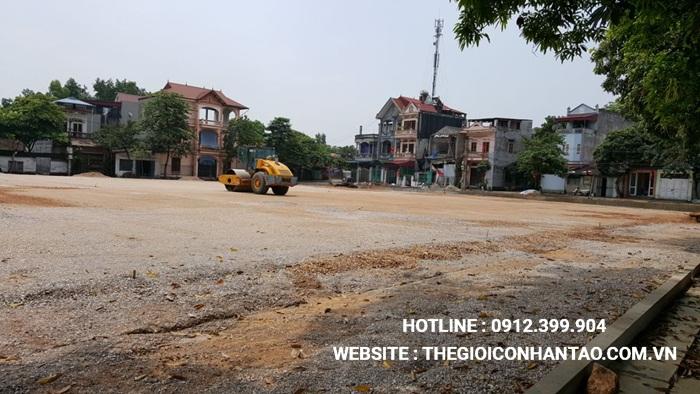 Một số hình ảnh của Dự án sân bóng TháiHưng tại Gia Sàng, Thái Nguyên 2