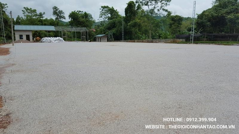 Một số hình ảnh của Dự án sân bóng tại Võ Nhai - Thái Nguyên 4