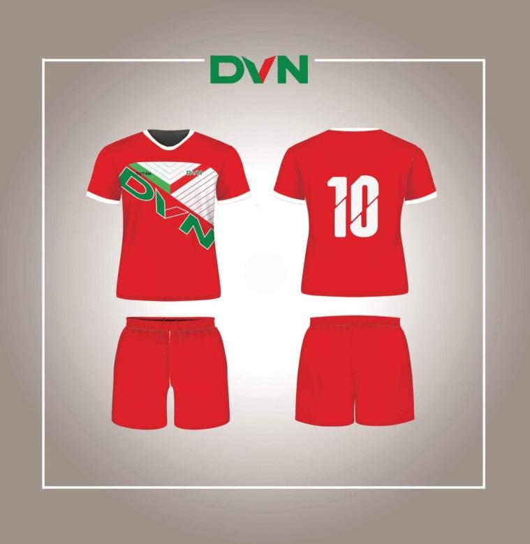 Một số mẫu áo đấu của DVN 2018 1