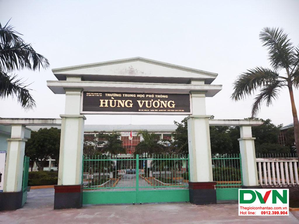 Dự án sân bóng cỏ nhân tạo tại trường THPT Hùng Vương, Quảng Nam 1