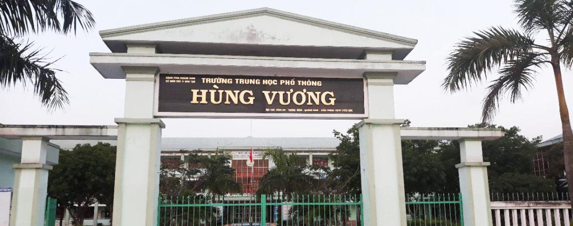 Dự án sân bóng cỏ nhân tạo tại trường THPT Hùng Vương, Quảng Nam