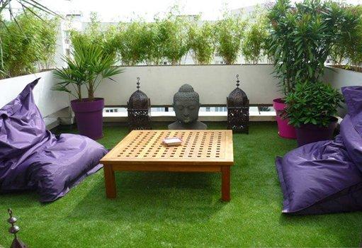 2/ Không gian cỏ nhân tạo giúp tinh thần thư giãn hơn: 1