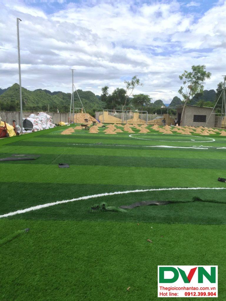 Một số hình ảnh của dự ánsân bóng cỏ nhân tạo tại Trường THPT Bố Trạch số 4, Quảng Bình 1