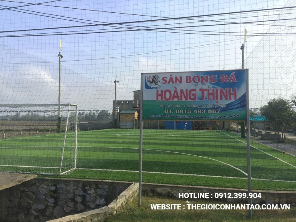 Một số hình ảnh của dự ánsân bóng cỏ nhân tạo Sân bóng Hoàng Thịnh tại Lệ Thủy, Quảng Bình 1