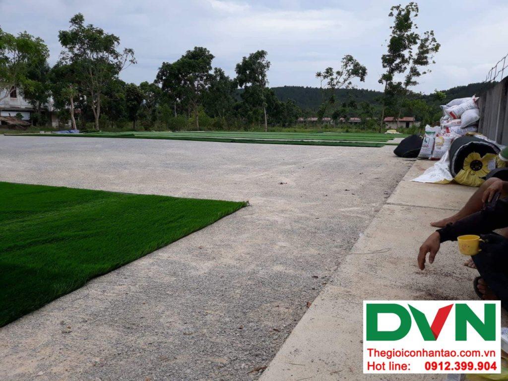 Một số hình ảnh của dự ánsân bóng cỏ nhân tạo tại Bố Trạch, Quảng Bình 2