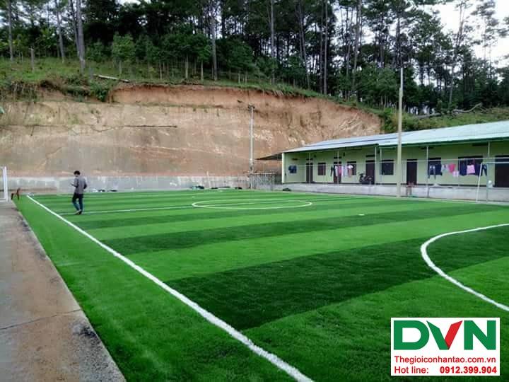 Một số hình ảnh của dự ánsân bóng cỏ nhân tạo tại Đak Glei- Kon Tum 2