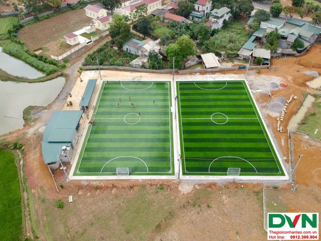 Một số hình ảnh của dự ánsân bóng cỏ nhân tạo tại Phố Sấu, Lạc Thịnh, Hòa Bình 7