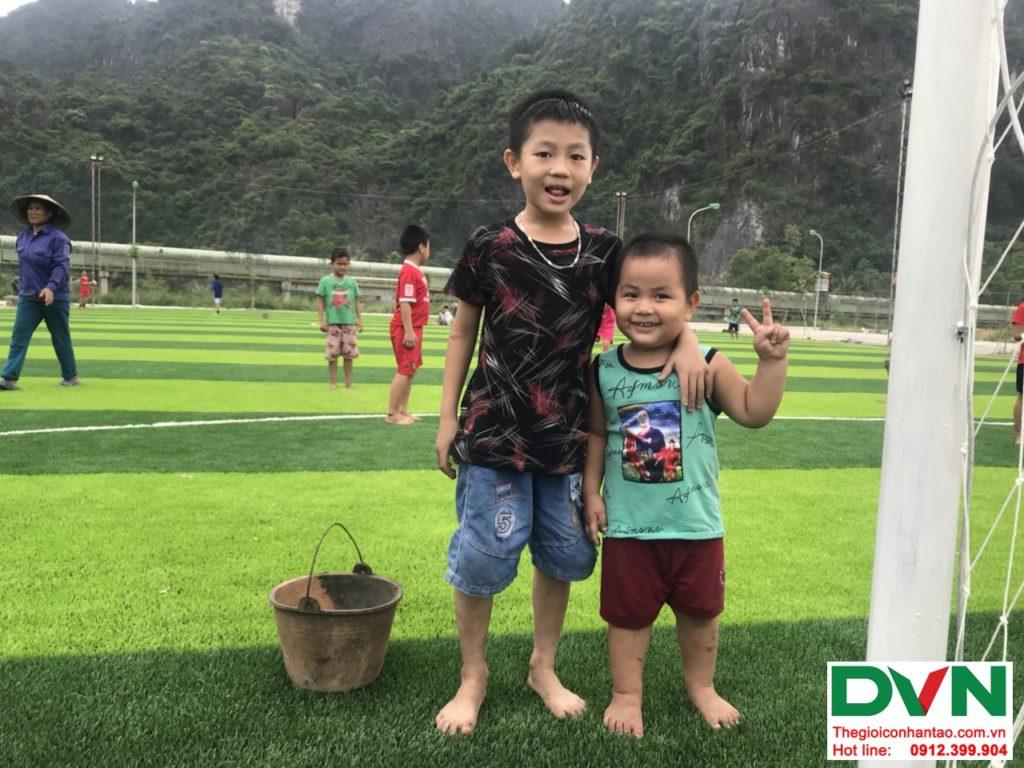 Một số hình ảnh của dự ánsân bóng cỏ nhân tạo tại Quang Hanh, Cẩm Phả, Quảng Ninh 1