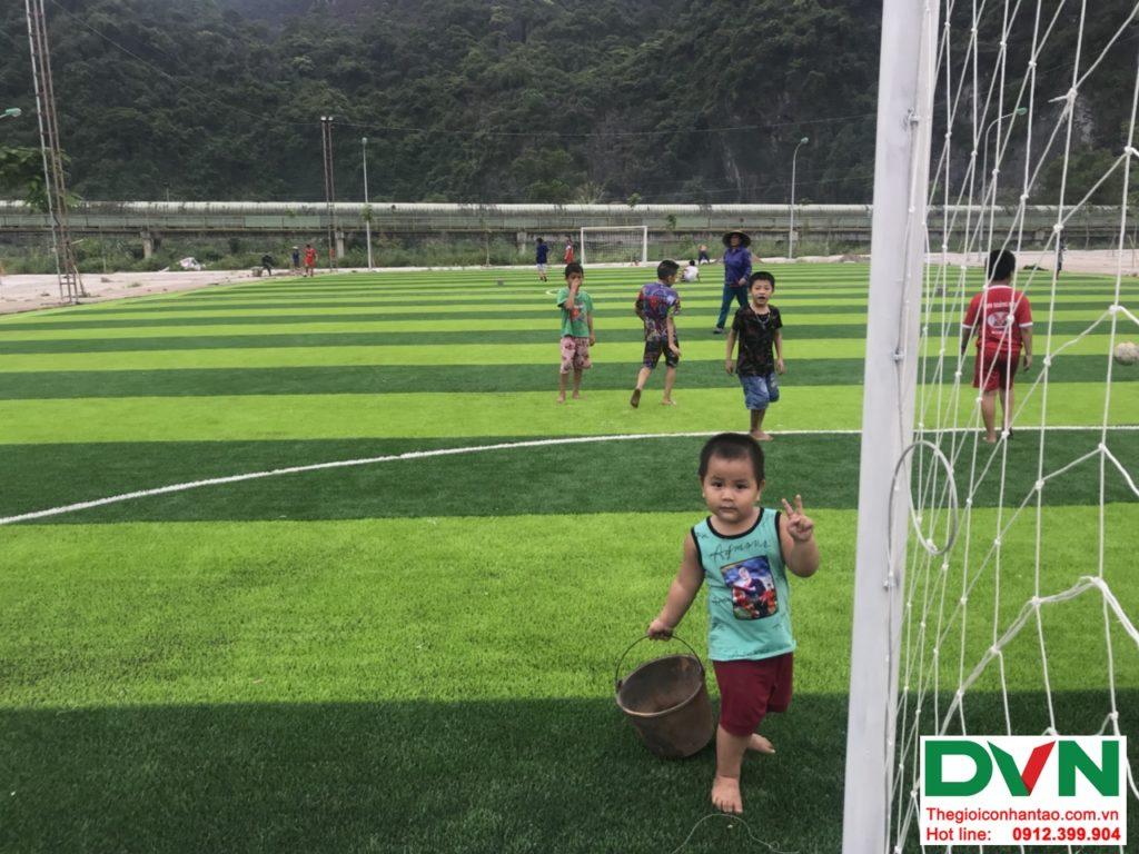 Một số hình ảnh của dự ánsân bóng cỏ nhân tạo tại Quang Hanh, Cẩm Phả, Quảng Ninh 2