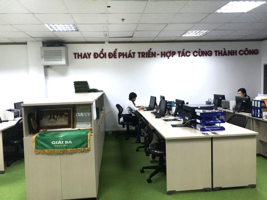 Một số hình ảnh của dự án trải văn phòng Chi nhánhHồ Chí Minh- Công ty TNHH DVN Việt Nam 2